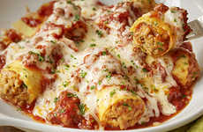 Sausage Stuffed Rigatoni Meals - Olive Garden's Stuffed Pasta Menu Item Features Homemade Meat Sauce