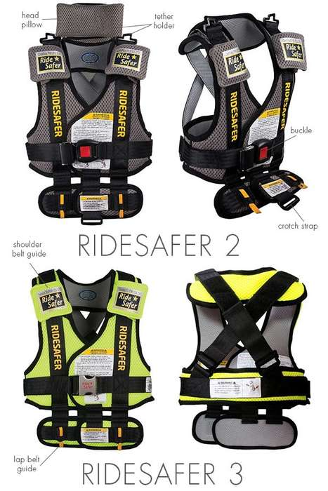 Car Seat-Replacing Vests