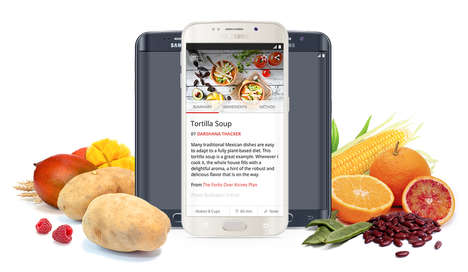 Vegetarian Meal-Making Apps - 'Forks Over Knives' is a Step-by-Step Recipe App for Vegetrains