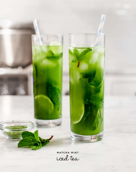 Matcha Iced Teas - Love & Lemons Creates a Minty Cold Tea With Exotic Ingredients