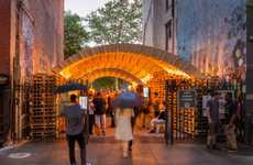 Upcycled Carton Pavilions - This Pavilion at the NYC Ideas City Festival is Sustainably Designed