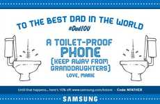 Dad-Celebrating Coupons - Samsung UK Helps Twitter User Sent Out Comical Father's Day Wishes