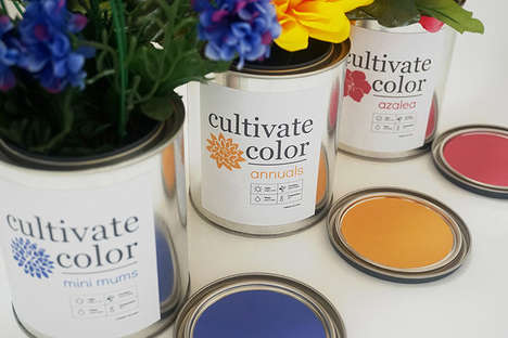 Paint Can Gardening Pots - These Flower Growing Paint Cans Add a Pretty Decor Piece to Your Home
