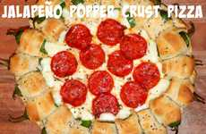 Jalapeno Poppers Pizza Crusts - This Regular Pepperoni Pizza has a Very Unusual Pizza Crust