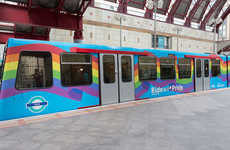 Vibrant Rainbow Trains - This Rainbow Print Train Rolls Through London's World Pride Festival