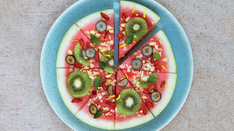 DIY Watermelon Pizza - This Fruit-Infused Watermelon Pizza is a Satisfyingly Healthy Treat