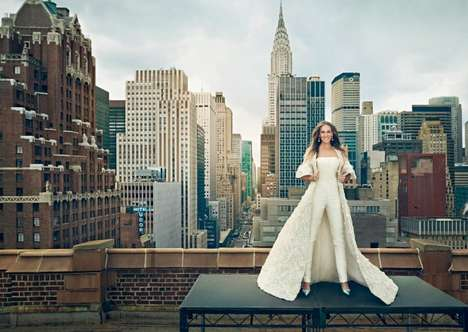 Urban Actress Editorials - This Sarah Jessica Parker Fashion Story Boasts the New York Skyline
