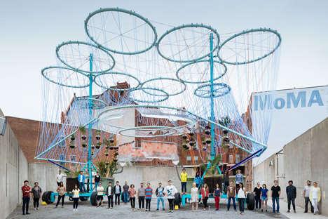 Massive Water Filtrating Sculptures