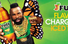 Transformative Iced Tea Ads - This Iced Tea Drink Campaign Stars Mr. T as the Bold Face of FUZE