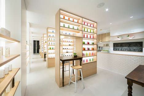Cafe  Beauty Boutiques - The 'Beauty Library' Offers Self-Study Beauty Areas & Mass Shelving