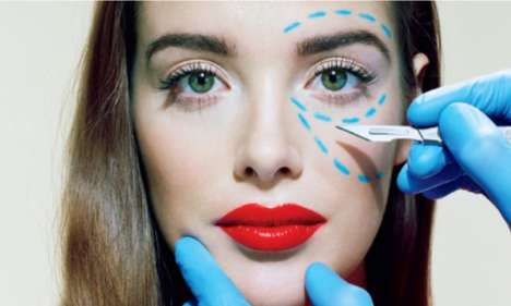 Plastic Surgery Editorials - 'Nip. Tuck. Or Else' by Miles Aldridge Covers Time Magazine