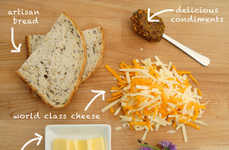 Gourmet Sandwich Subscriptions - Weekly Food Subscription Cheese Posties Sends You Grilled Cheeses