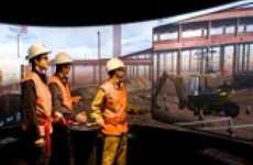 Simulation Construction Sites - This Construction Simulation Uses a 360-Degree Training Dome