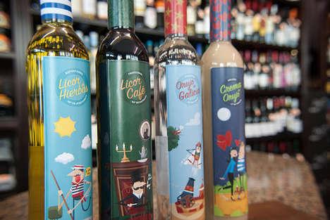 Vintage Illustrated Wine Labels