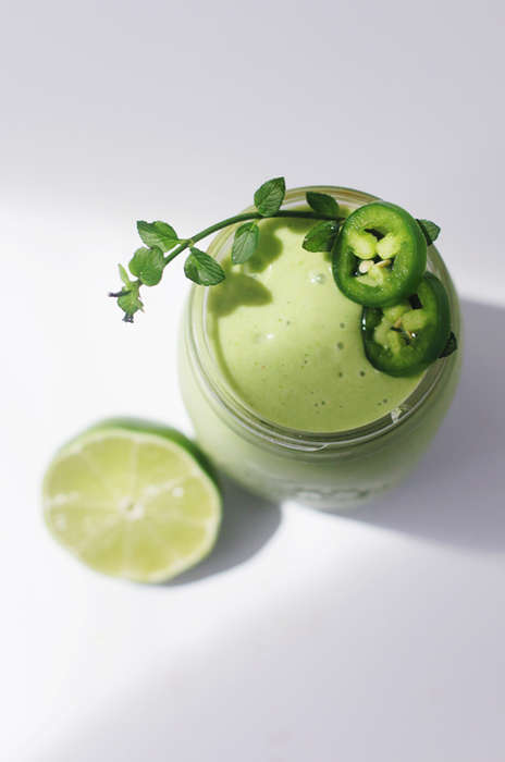 Spicy Health Potions - This Green Smoothie Recipe Contains Tropical Fruits and Spicy Jalapeno Pepper