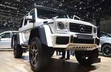 Intimidating Off-Road Vehicles - Mercedes' G500 4x4 Squared Has a Large Frame and Appearance