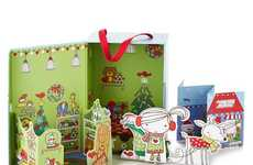 Eco Christmas Toys - This Paper Dollhouse is Collapsible and Fun to Play With
