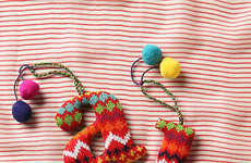 Crocheted Christmas Ornaments - These Alphabet Letter Ornaments Include Collectible Letters