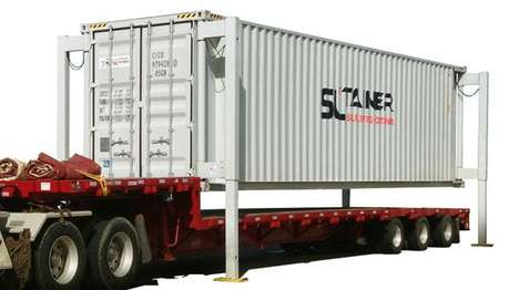Self-Lifting Shipping Containers