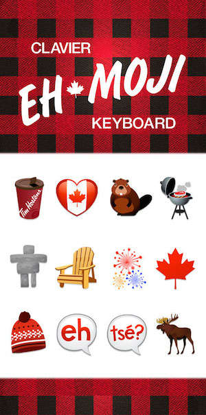 Canadian Emoji Keyboards - Tim Hortons Helps You Send a Canada Day Message Via the Ehmoji Keyboard