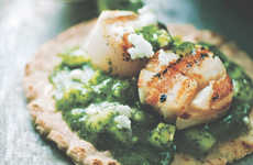 Green Scallop Tacos - These Unsual Tacos Provide a Vibrant Flavor and Hue