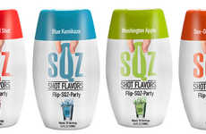 Squeezable Shot Flavors - These Tiny Bottles Contain Different Flavors of Liquid Shot Concentrate