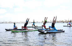 Paddleboard Yoga Classes - SUP Yoga Halifax Applies Balance to Standing on a Paddleboard