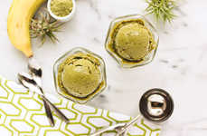 Homemade Tea Treats - This Banana and Matcha Ice Cream Only Requires Three Ingredients to Make