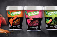 Veggie-Infused Yogurts - This Super Healthy Yogurt Fuses Fruits and Vegetables into One Tasty Sanck