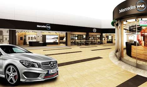 Airport Automotive Dealerships - Japan's Haneda Airport Will Host an Interactive Mercedes-Benz Shop