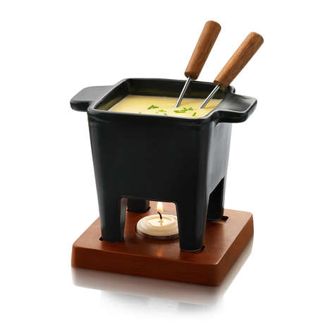 Couples' Fondue Sets - The 'Fondue for Two' Set Creates a Snack Served by Candlelight