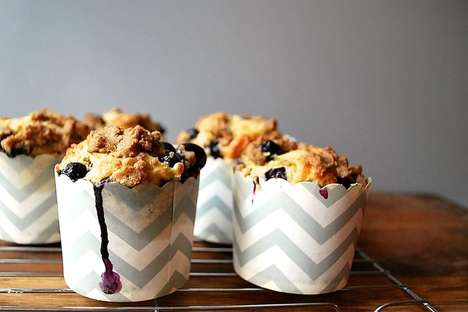 Fresh Blueberry Streusel Muffins