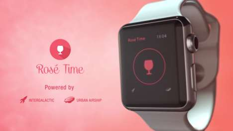 Wine-Summoning Apps - The Rosé Time Apple Watch and Mobile App Makes It Easy to Order a Glass