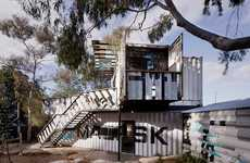 Shipping Container Children's Centers - This Industrial Children's Activity Center is in Australia