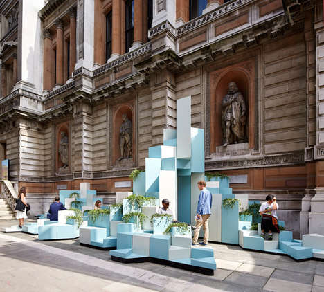 "Pixelated Ceramic Installation - ""Unexpected Hill"" is a Creative Ceramic Sculpture in London"