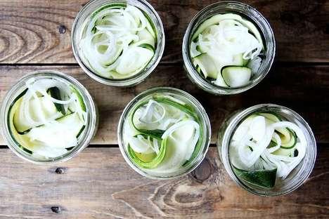 Zesty Pickled Zucchinis