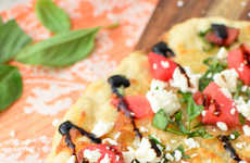 Refreshing Fruity Flatbreads - This Summery Flatbread Recipe is Topped With Watermelon and Feta