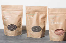 Brown Bag Food Packaging - This Natural & Organic Food Company Uses Brown Bags to Label Its Products