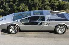 Wedge-Shaped Car Auctions - The One-Off Maserati Boomerang is Being Offered For Sale By Auction