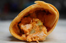 Convenient Buffalo Chicken Wraps - The Trader Joe's Buffalo Chicken Wrap Eliminates Mess On-the-Go