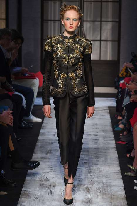 The Schiaparelli Fall Couture Line Uses Three Major Inspirations