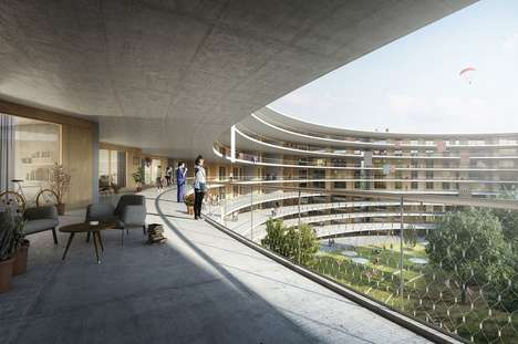 Garden-Shrouded Student Residences - A Project at a Swiss University Will Have Plenty of Greenery