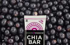 Berry Superfood Bars - Health Warrior's Snack Bars Celebrate Chia Seeds as a Main Ingredient