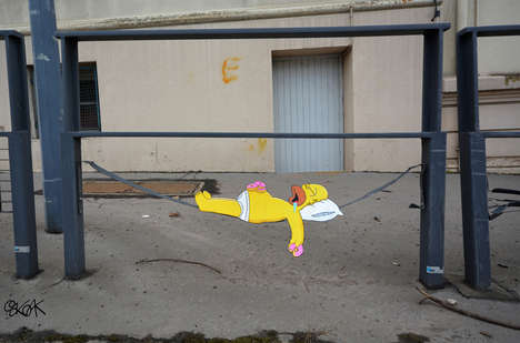 Pop Culture-Inspired Graffiti - This French Artist Turns Pop Culture Icons into Amusing Street Art