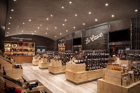 Market-Style Food Stores - The Home Park High Quality Food Store Designs are Separated by Function