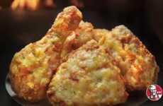 Cheesy Pizza Chicken Wings - These Hybrid Pizza Chicken Wings from KFC are Revealed on Japan Menus
