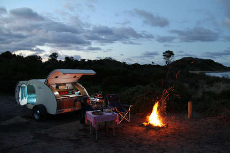 Retro Camping Vehicles - This Vintage Camper Combines Retro Designs and Contemporary Features