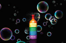 LGBT-Celebrating Vodka Bottles - Absolut Colors is Inspired by the Iconic Gilbert Baker Rainbow Flag