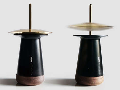 Rotating Oil Diffusers - iAN Yen and Design YxR's Diffuser Design Blends Technology and Physics