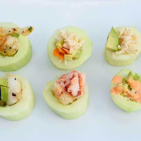 Low-Carb Cucumber Sushi